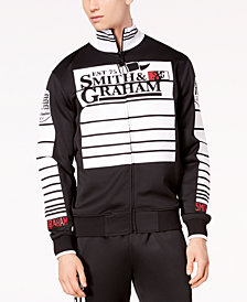 Men's Striped Zip-Front Jacket