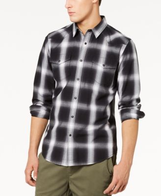 Men's Western Plaid Shirt, Created for Macy's