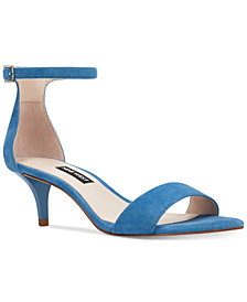 Nine West Leisa Two-Piece Kitten-Heel Sandals