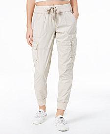 Calvin Klein Performance Cotton Tie-Front Cargo Pants