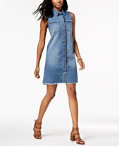 25e44643 Style & Co Denim Shirtdress, Created for Macy's