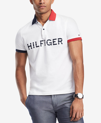 Tommy Hilfiger Men's Mario Custom-Fit Logo-Print Polo, Created for Macy's
