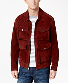 Michael Kors Men's Suede Utility Jacket