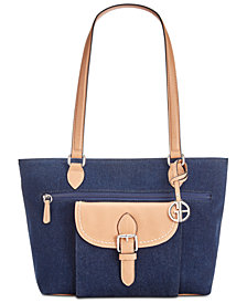 Giani Bernini Denim Conflap Tote, Created for Macy's