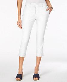 Style & Co Straight-Leg Capri Pants, Created for Macy's