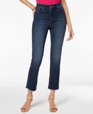 Style & Co Petite Frayed Cropped Jeans, Created for Macy's 5618585
