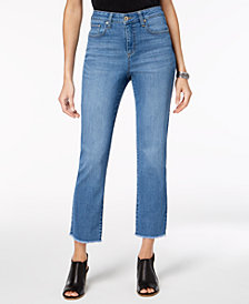 Style & Co Petite Frayed Cropped Jeans, Created for Macy's