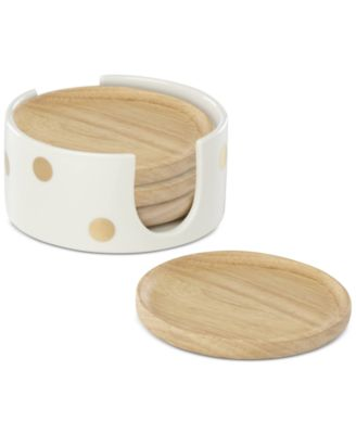 Melrose Avenue Set of 4 Coasters With Caddy