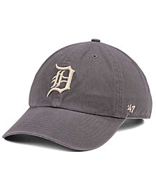 '47 Brand Detroit Tigers Dark Gray CLEAN UP Cap