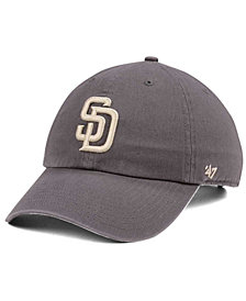'47 Brand San Diego Padres Dark Gray CLEAN UP Cap