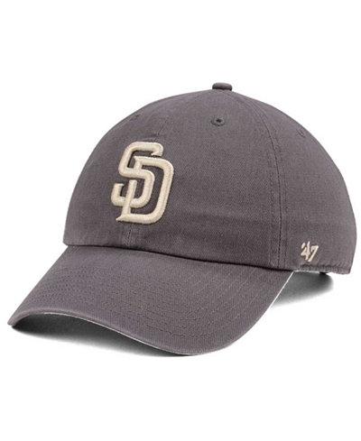 '47 Brand San Diego Padres Dark Gray CLEAN UP Cap