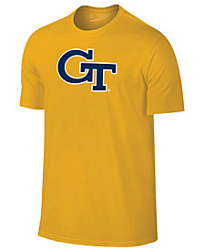 New Agenda Men's Georgia-Tech Big Logo T-Shirt