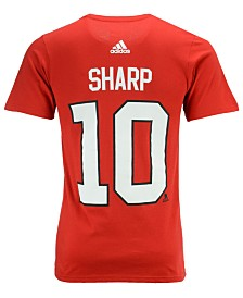 adidas Men's Patrick Sharp Chicago Blackhawks Silver Player T-Shirt