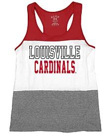 Blue 84 Women's Louisville Cardinals Racerback Panel Tank Top
