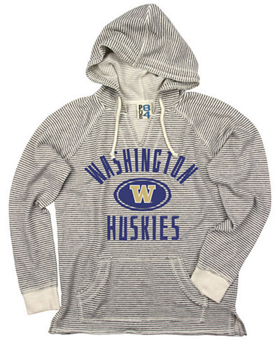 Blue 84 Women's Washington Huskies Striped Terry Hooded Sweatshirt