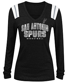 5th & Ocean Women's San Antonio Spurs Wordmark Long Sleeve T-Shirt