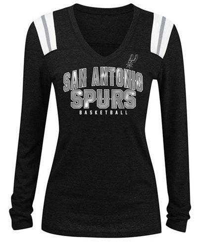 5th & Ocean Women's San Antonio Spurs Wordmark Long Sleeve T-Shirt