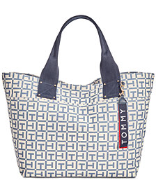 Tommy Hilfiger Classic Tommy Pocket Logo Canvas Tote