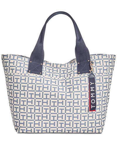 Tommy Hilfiger Classic Tommy Pocket Logo Extra-Large Canvas Tote