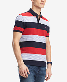 Tommy Hilfiger Men's Lewis Custom-Fit Striped Polo, Created for Macy's