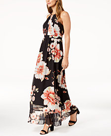 NY Collection Petite Printed Maxi Dress