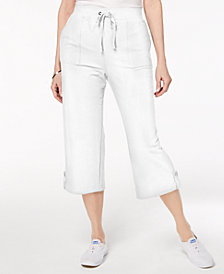 Karen Scott Petite Pull-On Capri Pants, Created for Macy's