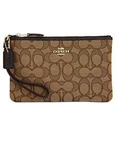 COACH Signature Boxed Small Wristlet