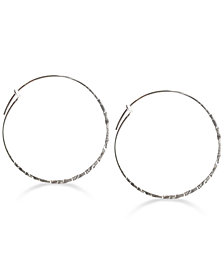 Jody Coyote Textured Wire Hoop Earrings in Sterling Silver