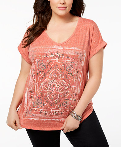 Style & Co Plus Size Graphic Dolman-Sleeve T-Shirt, Created for Macy's