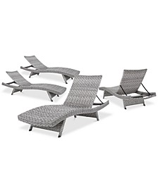 Trevor Outdoor Chaise Lounge (Set Of 4), Quick Ship