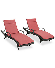 Baja Outdoor Chaise Lounge (Set Of 2), Quick Ship