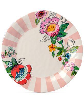 Coral Floral Melamine Dinner Plate