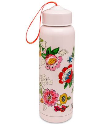 Coral Floral Water Bottle