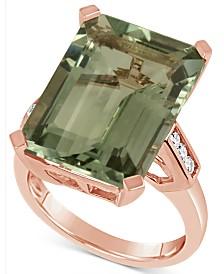 Prasiolite (15 ct. t.w.) & Diamond (1/5 ct. t.w.) in 14k Rose Gold
