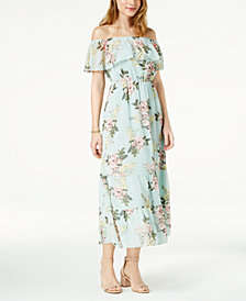 Maison Jules Off-The-Shoulder Flounce Dress, Created for Macy's
