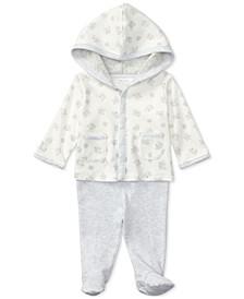 폴로 랄프로렌 남아용 우주복 Polo Ralph Lauren Ralph Lauren Cotton Hoodie & Pants Set, Baby Boys & Girls,Paper White Multi