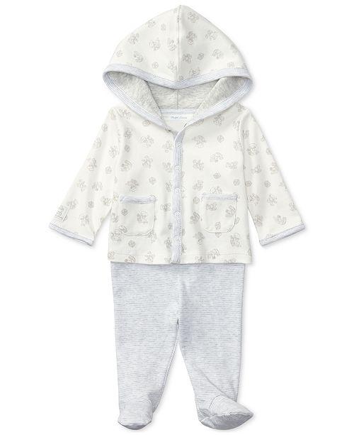Polo Ralph Lauren Ralph Lauren Cotton Hoodie & Pants Set, Baby Boys & Girls