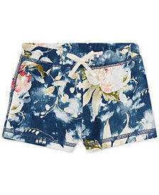 Polo Ralph Lauren Floral-Print Shorts, Baby Girls