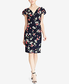 Lauren Ralph Lauren Flutter-Sleeve Dress, Regular & Petite Sizes