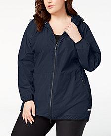 Calvin Klein Performance Plus Size Hooded Walker Jacket
