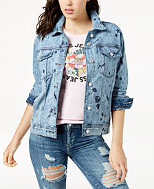 GUESS Doodle Art Printed Denim Jacket