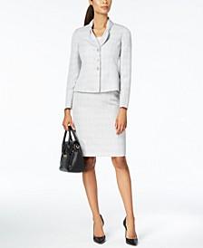 Bow-Collar Skirt Suit