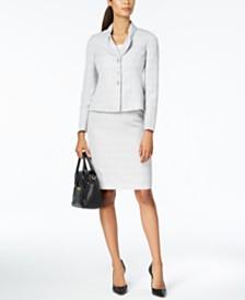 Le Suit Bow-Collar Skirt Suit