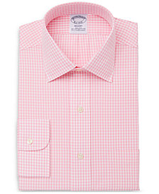 Brooks Brothers Men's Slim-Fit Non-Iron Stretch Gingham Dress Shirt
