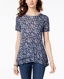 MICHAEL Michael Kors Layered-Hem Peplum Top, Regular & Petite