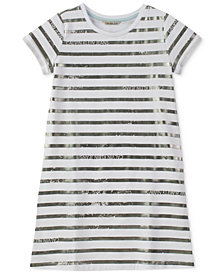 Calvin Klein Striped T-Shirt Cotton Dress, Big Girls