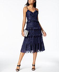 MICHAEL Michael Kors Printed Jacquard Ruffled Dress, Regular & Petite