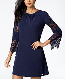 MICHAEL Michael Kors Lace-Sleeve Dress, Regular & Petite