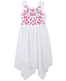 Speechless Embroidered Handkerchief Hem Dress, Toddler Girls