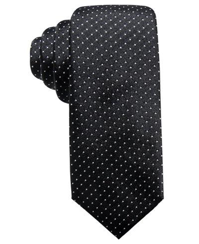 Alfani Men's Pindot Slim Silk Tie, Created for Macy's